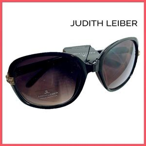 🏷 🆕 Judith Leiber Black Square Jewel Sunglasses